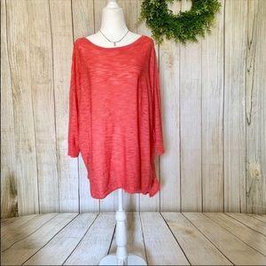 Ava & Viv. Knit pinkish orange tunic. Size 1X
